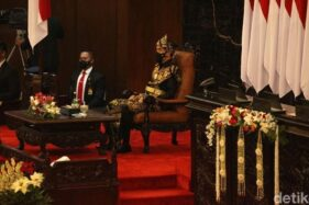 Presiden Jokowi menghadiri sidang tahunan MPR DPR dan DPD 2020. (Biro Pers Sekretariat Presiden)
