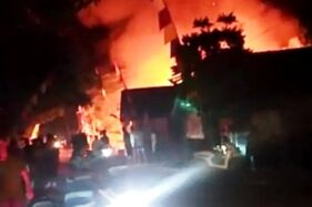 Kebakaran Ludeskan Tiga Rumah di Kradenan Grobogan