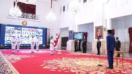 Jokowi kukuhkan Paskibraka 2020 (dok. Biro Satpres)