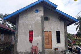 Salah satu rumah warga yang menjadi sasaran program Bedah Rumah dari Kementerian PUPR. (Istimewa)