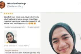 Coba Jilbab yang Akan Diberi ke Pacar, Aksi Gokil Cowok Ini Viral