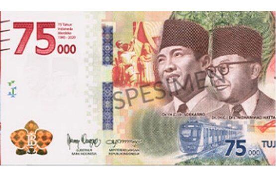 Uang Pecahan Rp75.000 (dok Bank Indonesia-detik.com)