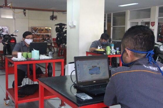 Pelatihan guru SMK secara online bersama Astra Honda Motor. (Istimewa)