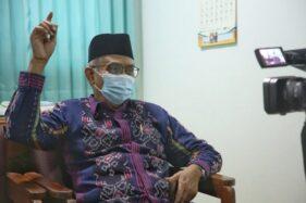 Kiai Muhyiddin menceritakan pengalamannya sembuh dari virus corona atau Covid-19. (Semarangpos.com/Humas Pemprov Jateng)