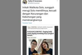 Postingan Kasang soal makan babi dan kambing. (Istimewa/Twitter)
