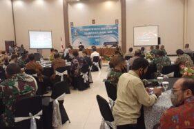 Perwakilan dari perguruan silat PSHT dan PSHW mengikuti rapar koordinasi bersama Forpimda se-Bakorwil I Madiun di Hotel Sun Madiun, Kamis (13/8/2020). (Abdul Jalil/Madiunpos.com)