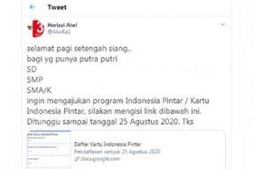 Cek Fakta: Hati-Hati! Link Pendaftaran Kartu Indonesia Pintar Hoax