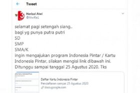 Hox Formulir Kartu Indonesia Pintar. (Istimewa)