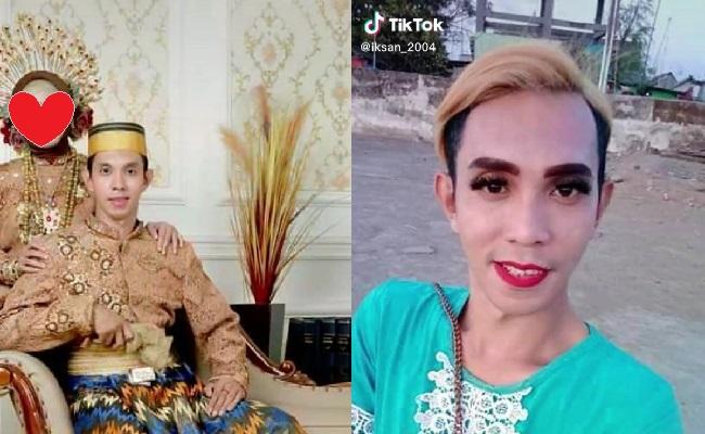 Viral Video Tiktok Waria Tobat Jadi Laki-Laki Tulen Nikahi Wanita Cantik