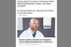 Cek Fakta: Dokter Mahfoudz Ungkap Konspirasi Vaksin Amerika [Hoax]