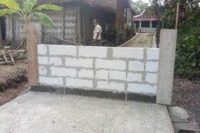 Jalan Kampung di Tanon Sragen Ini Mendadak Ditutup Pagar Tembok