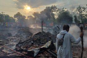 Kebakaran Hanguskan 4 Rumah di Sukodono Sragen, 2 Keluarga Ngungsi