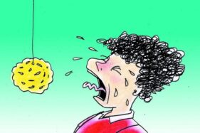Ilustrasi lomba makan kerupuk. (Solopos/dok)