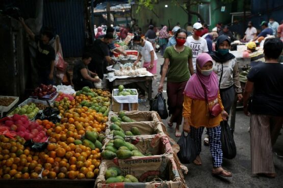 Ilustrasi pasar tradisional. (Reuters)