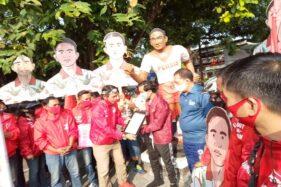 Foto penyerahan SK rekomendasi PSI kepada Gibran-Teguh, Senin (10/8/2020) di Stadion R Maladi Solo. (Istimewa)