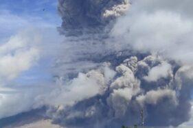 Gunung Sinabung Meletus Lagi, Warga Dilarang Beraktivitas di Radius Ini