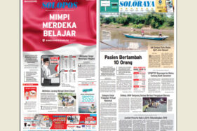 Koran Solopos edisi Sabtu (15/8/2020).