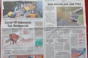 Solopos Hari Ini: Covid-19 Indonesia Tak Berpuncak