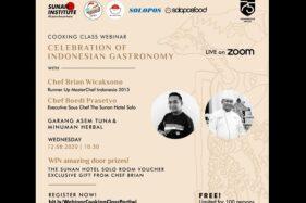 Pengumuman acara webinar cooking class Komunitas Pertiwi, The Sunan Hotel, dan Solopos Food, Rabu (12/8/2020). (Istimewa)