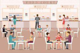 Ilustrasi tempat makan. (Freepik)