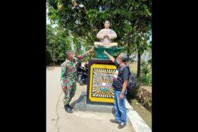 Salah satu tugu PSHT di Dukuh Bantar, Pelemgadung, Karangmalang, Sragen. (Istimewa/Joko Piroso)