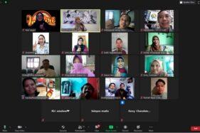 Sebanyak 25 peserta UMKM Virtual Expo saat sesi foto bersama secara virtual saat webinar via Zoom Meeting, Kamis (6/8/2020). (Tim Solopos)