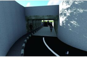 Gambar desain underpass Jl Transito, Laweyan, Solo. (Instagram @binamarga_solo)