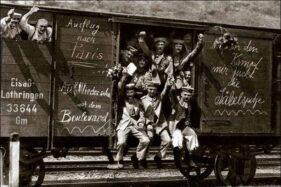 Pasukan Jerman menuju Prancis di masa awal Perang Dunia I. (Wikipedia.org)