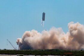 Prototipe Starship SN6 Sukses Meluncur, Misi ke Bulan dan Mars Kian Nyata