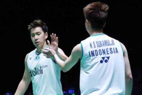 Ganda andalan Indonesia, Kevin Sanjaya-Marcus Fernaldi Gideon. (Badminton Indonesia)