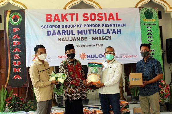 Songsong HUT ke-23, Solopos Group Gelar Baksos dan Ayo Membaca Bareng Santri Sragen