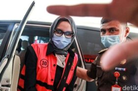 Jaksa Pinangki Sirna Malasari kembali diperiksa di gedung Kejaksaan Agung (Kejagung). (Detik.com)