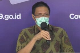Sekjen PHRI Maulana Yusran berbicara dalam konferensi pers bersama Satuan Tugas (Satgas) Penanganan Covid-19 di Graha BNPB, Jakarta, Jumat (18/9/2020). (Antara-Katriana)