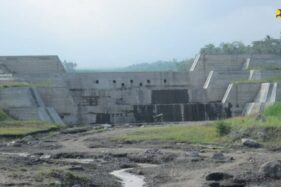Salah satu sabo dam di lereng Merapi (Kementerian PUPR)