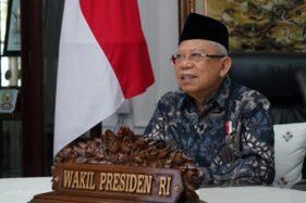 Wakil Presiden Ma'ruf Amin memperingati 100 tahun kedatangan orang Korean di Indonesia di kediaman resmi di Jakarta, Minggu (20/9/2020). (Antara-Sekretariat Komunikasi dan Informasi Publik Wapres)