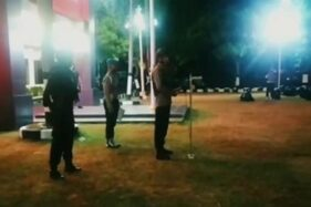 Delapan tim Patroli Skala Besar yang terdiri atas 790 personel gabungan Polresta Surakarta, Kopassus, Kodim 0735/ Surakarta,TNI AU, Brimob, Dit Samapta Polda Jateng dan Satpol PP mengamankan Kota Solo, Selasa (22/9/2020).(Instagram-@polrestasurakarta)