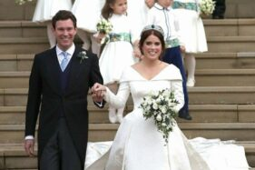 Putri Eugenie dan Jack Brooksbank usai pemberkatan nikah di Windsor Castle (Antara-Instagram The Royal Family)