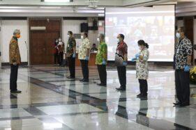 Pelantikan penjabat sementara bupati dan wali kota untuk enam daerah yang menggelar Pilkada Serentak 2021 di Kantor Pemprov Jateng, Jumat (25/9/2020). (Semarangpos.com-Humas Pemprov Jateng)