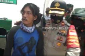 Terjaring razia masker di Bekasi, Rabu (23/9/2020), pria ini ngamuk hingga mengancam bakal menghancurkan dunia. (Instagram-@bekasi_24_jam)