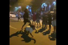 Perlombaan balap lari liar yang digelar di Wonogiri, tepatnya di Jl. Jendral Sudriman, depan Pasar Kota Wonogiri beberapa waktu lalu. (Istimewa)