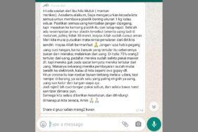 Tangkapan layar hoaks agar menjemur uang untuk membunuh virus Corona mencatut nama mantan Menteri Kesehatan Nila Moeloek. (Istimewa)