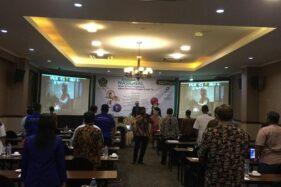 Suasana seminar nasional bertajuk Peran Ormas Keagamaan dalam Penanggulangan Covid-19 di Jogja, Rabu (30/9/2020). (Istimewa)