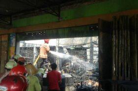 Diawali Ledakan, Pangkalan Elpiji dan Bengkel di Jl Sragen-Solo Ludes Terbakar