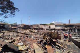 Kondisi Pasar Cepogo pasca kebakaran, Jumat (18/9/2020). (Solopos/Bayu Jatmiko Adi)