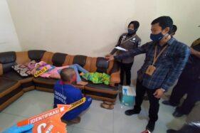 Polres Boyolali mengamankan pelaku pembunuhan bayi di Gladagsari, Rabu (23/9/2020). (Solopos/Bayu Jatmiko Adi)