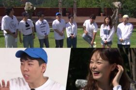Member Running Man bermain permainan All or Nothing. (Soompi)