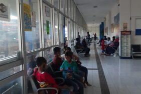 Suasana Terminal Giri Adipura Wonogiri jelang waktu keberangkatan bus pada Minggu (13/9/2020) jelang penerapan Pembatasan Sosial Berskala Besar (PSBB). (Istimewa)
