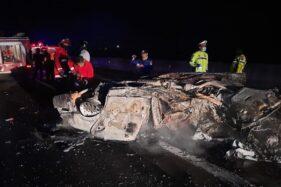 Ngeri! Ini Foto-Foto Kecelakaan Fatal 4 Kendaraan di Tol Boyolali