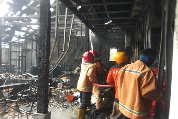 Gudang Arsip STIQ Isy Karima Karanganyar Terbakar