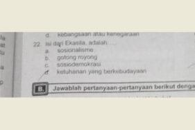 Muat Soal Ekasila, Buku PKn SMP di Sragen Ditarik dari Peredaran